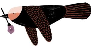 vogel illustratie door Aniek Bartels