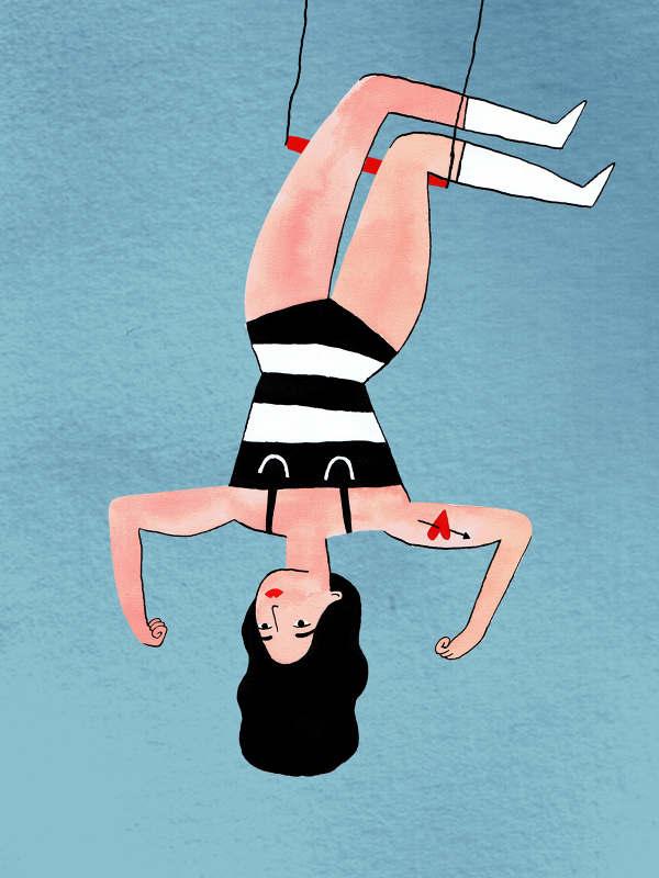 Trapeze meisje Aniek Bartels