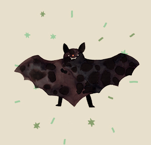 vleermuis illustratie Aniek Bartels
