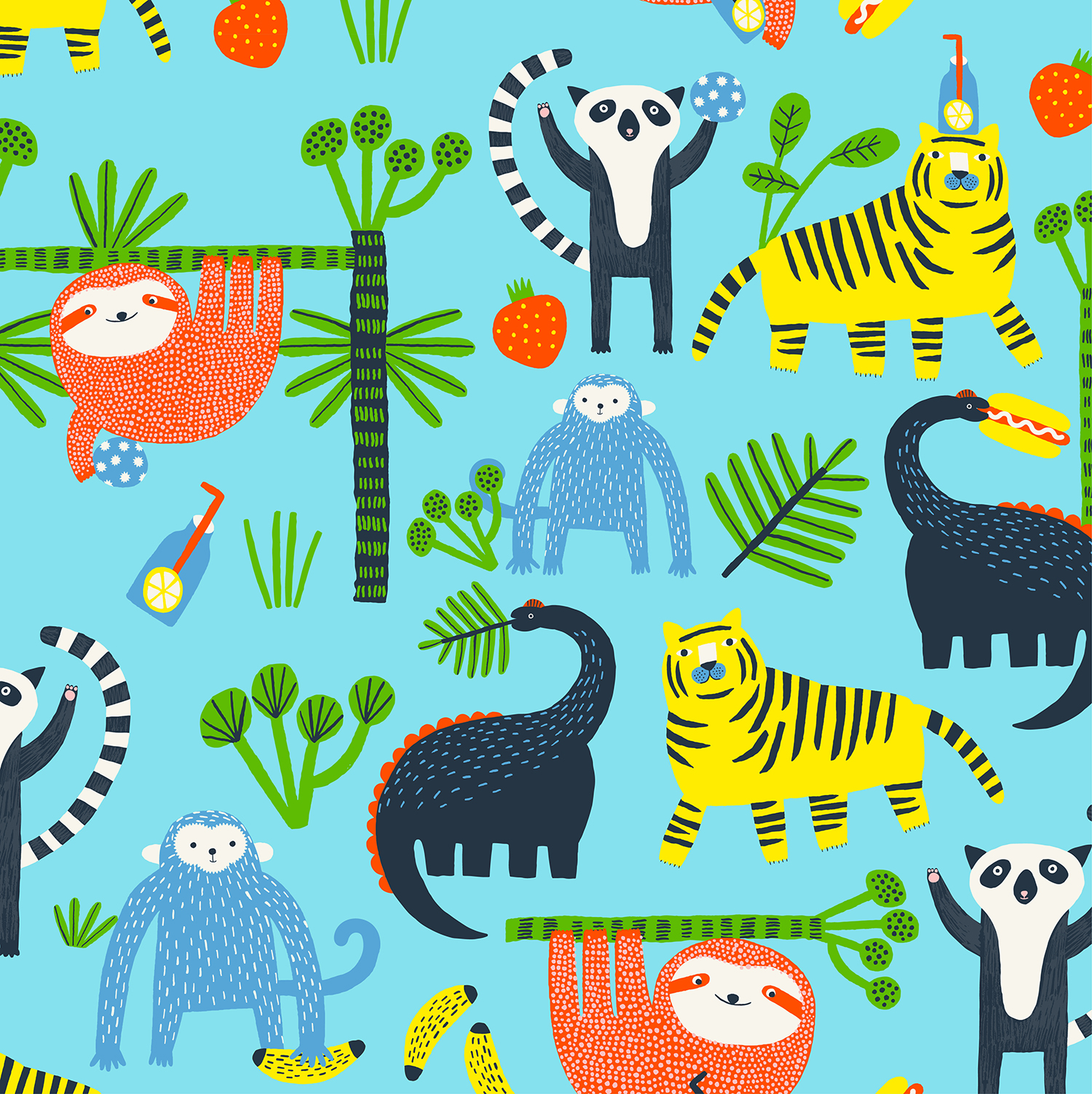 Hema - Jungle print by Aniek Bartels